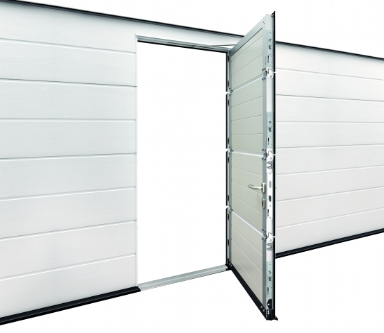 Sectional Garage Door with Wicket Door Entry