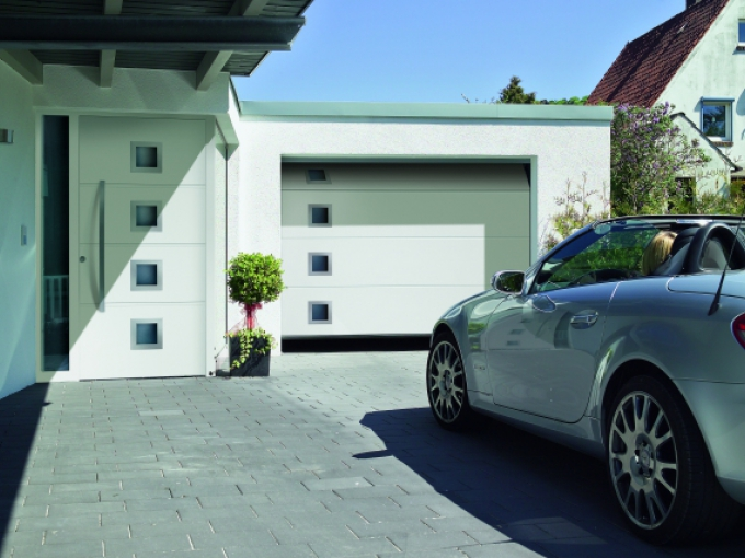 White Sectional Garage Doors by Garage Door and Gate